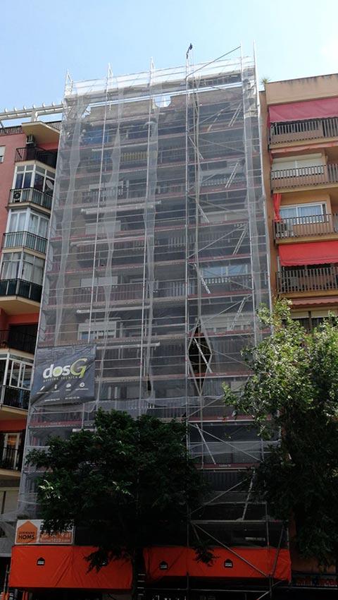 Andamio para la rehabilitación de fachada