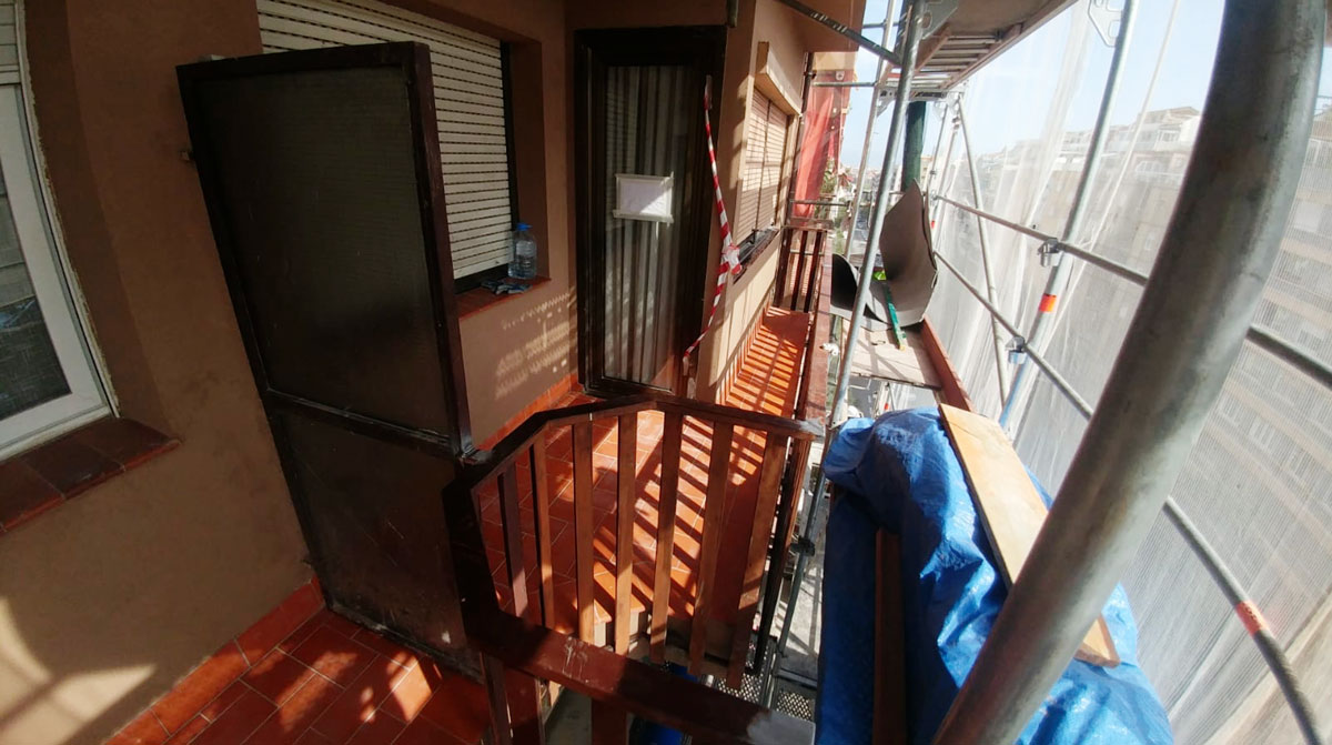 Reforma de balcones y fachada