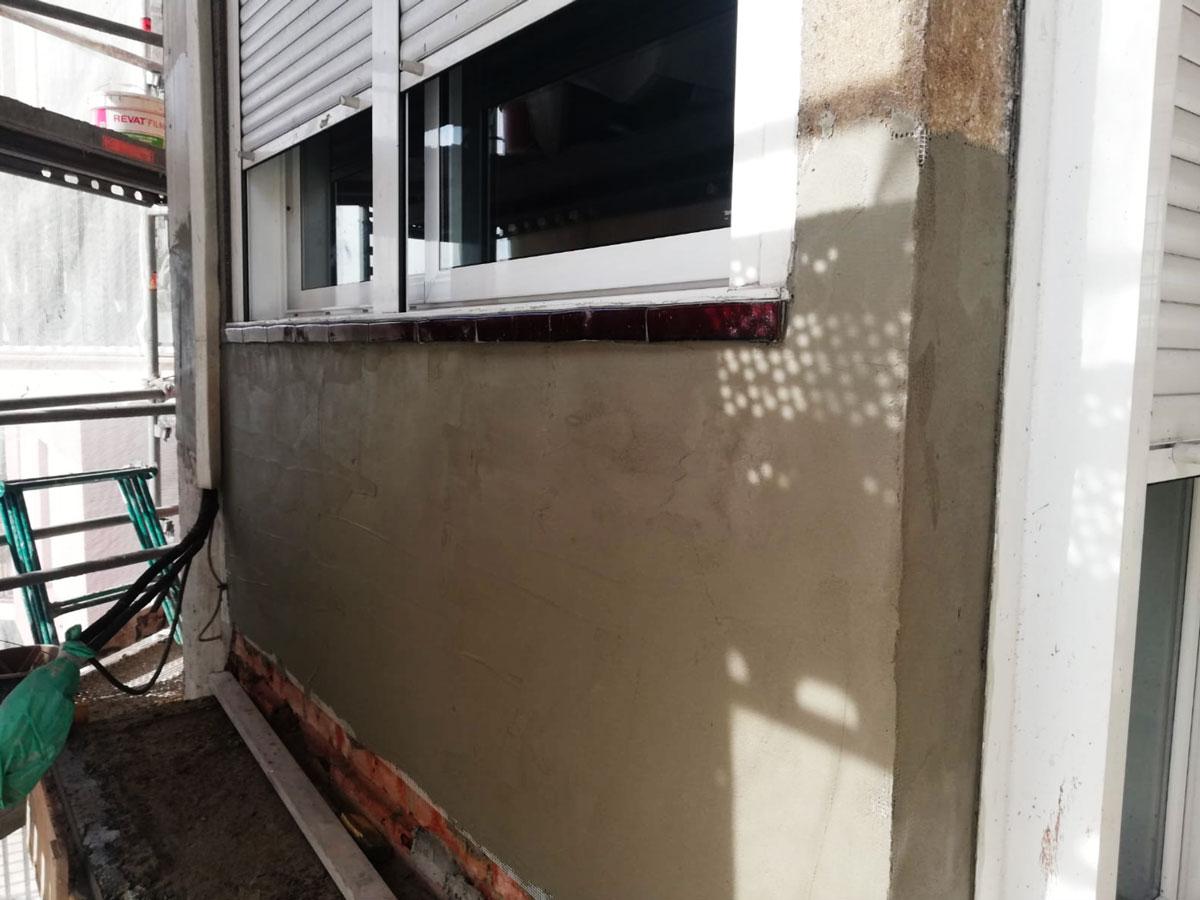 Revestimiento de la fachada